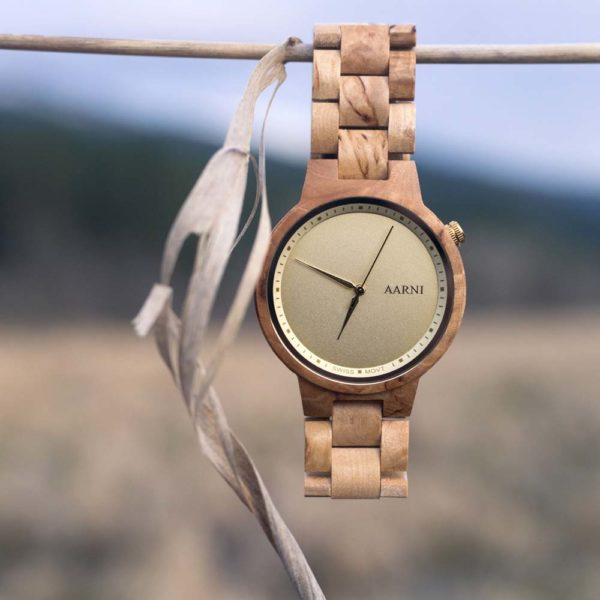Wooden Watch - Wood Watch - Puinen Rannekello
