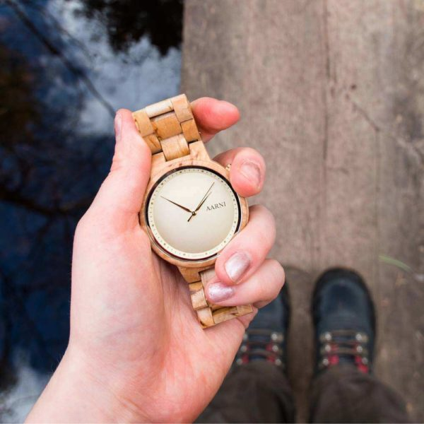 Aarni Wooden Watch - Wood Watch - Puinen Rannekello