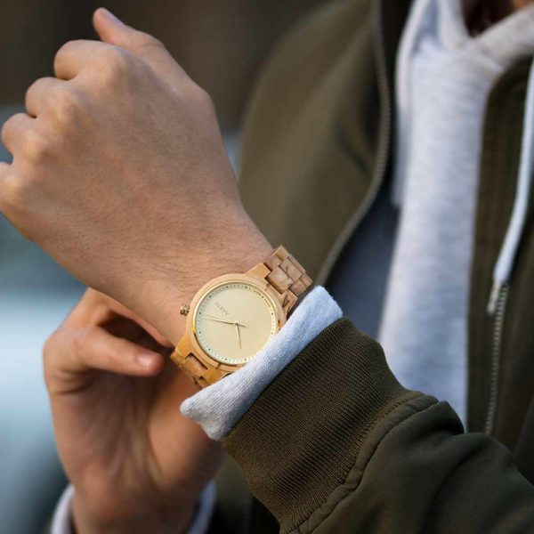 XO Curly Birch - Elegant Wood Watch by Aarni