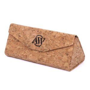 Sunglass case made of cork