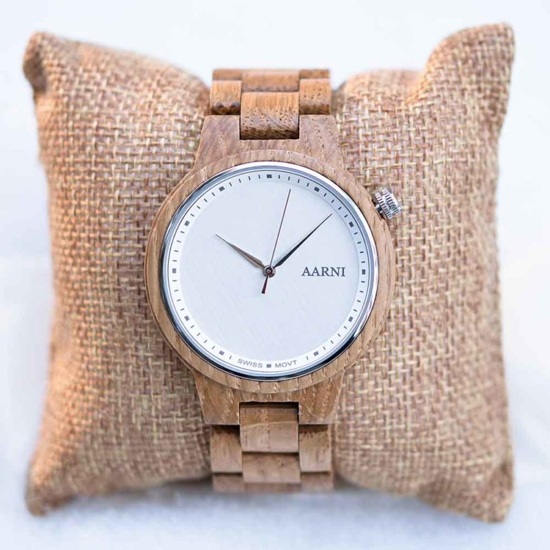 Aarni XO Oak - Wooden Watch - Puinen Rannekello - Träklocka