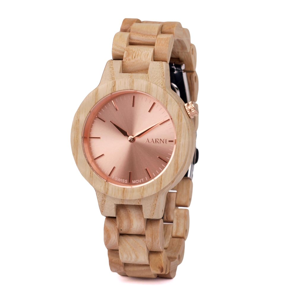 Aarni Vega Wood Watch - Puinen kello - Aitoa puuta ja laadukas koneisto