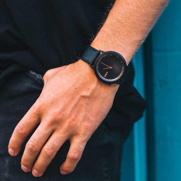 Aarni Loihi Ebony Watch