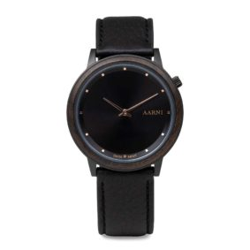 Aarni Loihi Ebony - Elk Leather Band - Swiss movement