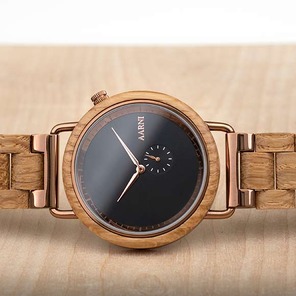 Aarni Sirius - Wooden Watch - Puinen Rannekello - Träklocka