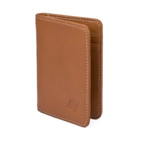 Elk Leather Wallet - Compact size and superior full grain elk leather - Hirvennahkainen lompakko - Aarni
