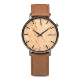 Aarni Tundra Watch - Elk Leather Band - Elegant watch made of natural materials - Tundra rannekello - Valmistettu aidoista materiaaleista.