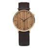 Aarni Tundra Teak - Elk Leather Band - Elegant watch made of natural materials - Tundra Tiikki - Valmistettu aidoista materiaaleista.