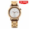 Aarni Atlas - Curly Birch Automatic Watch - Visakoivusta valmistettu kello automaattikoneistolla